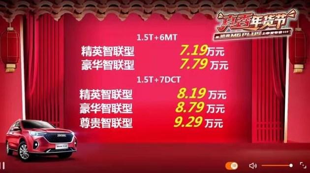 售7.19-9.29万元 哈弗M6 PLUS正式上市