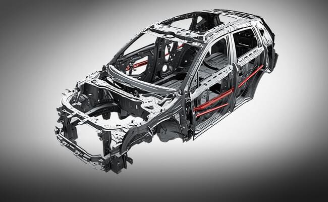 哈弗H2 高刚性安全车身,高强度钢应用比例超65%
