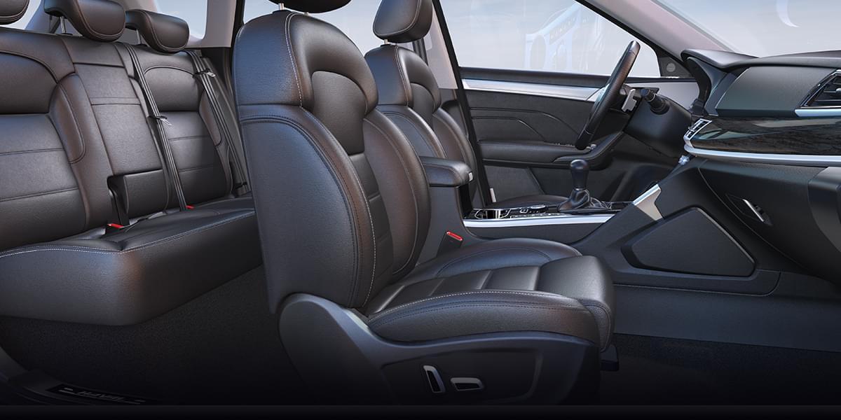 主驾驶座椅8向电动座椅调节+电动座椅记忆